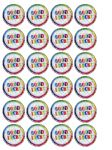 24 x Good Luck Goodbye edible wafer rice paper cup bun cake toppers